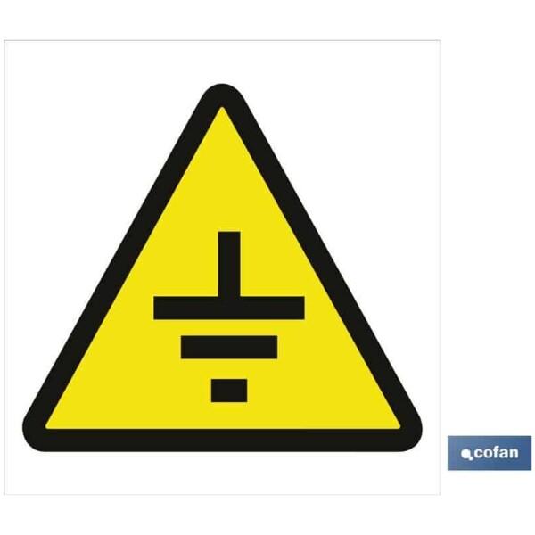 SEÑAL POLIESTIRENO 297X297 MM advertencia solo imagen peligro contactos