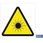 Señal advertencia solo imagen peligro radiaciones solares 105X105