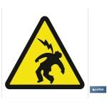 Señal advertencia peligro descargas el?ctricas 210X210