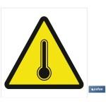 Señal advertencia peligro alta temperatura 148X148