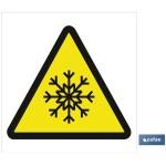 Señal advertencia solo imagen peligro frío 105X105