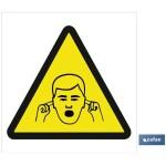 Señal advertencia solo imagen peligro ruidos 148X148