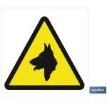 Señal advertencia Peligro Perros 148X148
