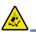 Señal advertencia peligro ca?da de cargas 297X297