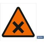 Señal advertencia solo imagen peligros nocivos 210X210