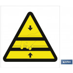 Señal advertencia peligro prensa 105X105