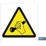 Señal advertencia peligro al desarmar 148X148