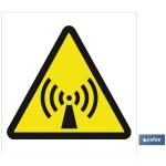Señal advertencia Peligro ondas 148X148