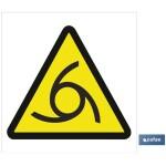 Señal advertencia solo imagen peligro girando 210X210