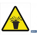 Señal advertencia peligro emanaciones 105X105