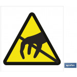 Señal advertencia solo imagen peligro no tocar 148X148