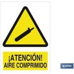 Señal advertencia peligro aire comprimido 297X210