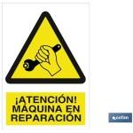 Señal advertencia peligro máquina en reparaci?n 297X210