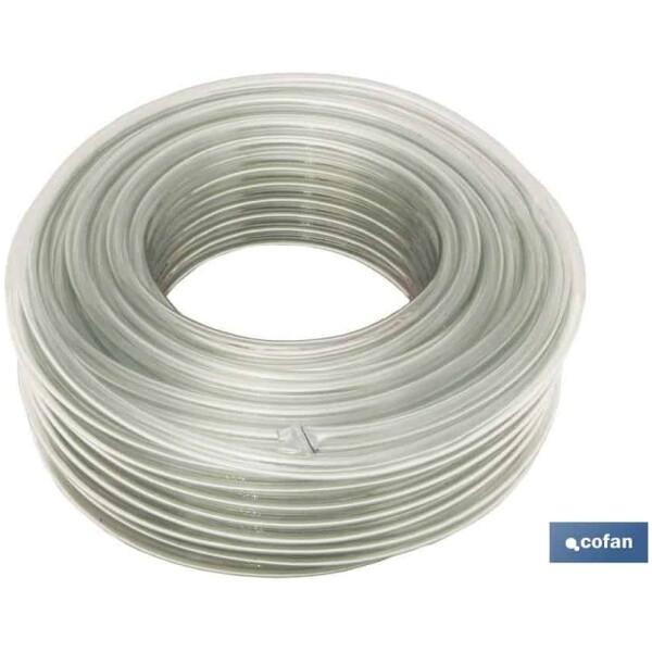 MANGUERA PVC MONOCAPA CRISTAL 4x6mm/100m