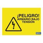 Señal advertencia peligro armario baja tensi?n 297X210