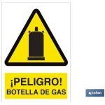 Señal PELIGRO BOTELLA DE GAS Poliestireno 148X105