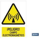 Señal advertencia peligro campo electromagn?tico 297X210