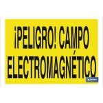 Señal advertencia peligro con texto campo electromagn?tico 420X297