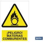 Señal PELIGRO MATERIALES CONBURENTES Poliestireno 420X297