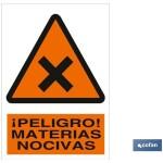 Señal advertencia peligro materias nocivas 148X105