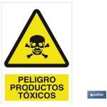 Señal advertencia peligro productos t?xicos 210×148