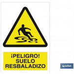 Señal advertencia peligro suelo resbaladizo 148 X 148