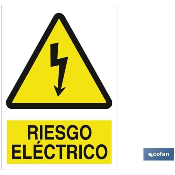 SEÑAL ADHESIVO 148X105 MM Riesgo Eléctrico