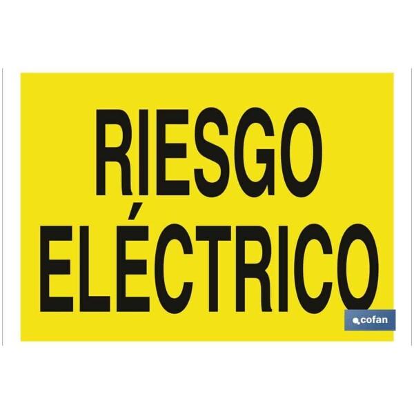 SEÑAL POLIESTIRENO 297X210 MM Riesgo eléctrico