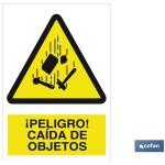 Señal advertencia peligro ca?da de objetos 210×148
