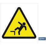 Señal advertencia solo imagen peligro caídas 297X297