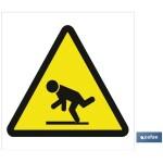 Señal advertencia solo imagen peligro caídas 105X105