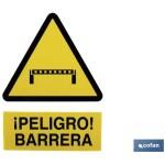Señal PELIGRO BARRERA Poliestireno 420X297