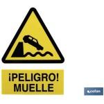 Señal PELIGRO MUELLE Poliestireno 297X210