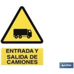 Señal ENTRADA Y SALIDA DE CAMIONES Poliestireno 210X148