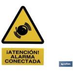 Señal ALARMA CONECTADA Poliestireno 210X148