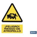 Señal RIESGO DE ATROPELLO 297×210