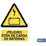 Señal ZONA DE CARGA DE BATER?AS 148X105