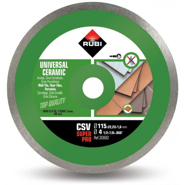 Disco diamante general cerámica CONTINUO CSV-115-125 PRO