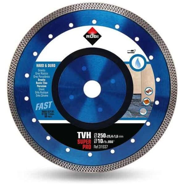Disco de corte diamante material duro TURBO VIPER TVH-250 SUPERPRO