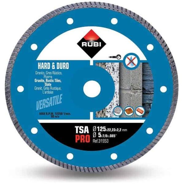 Disco de corte diamante material duro TURBO TSA-125 PRO
