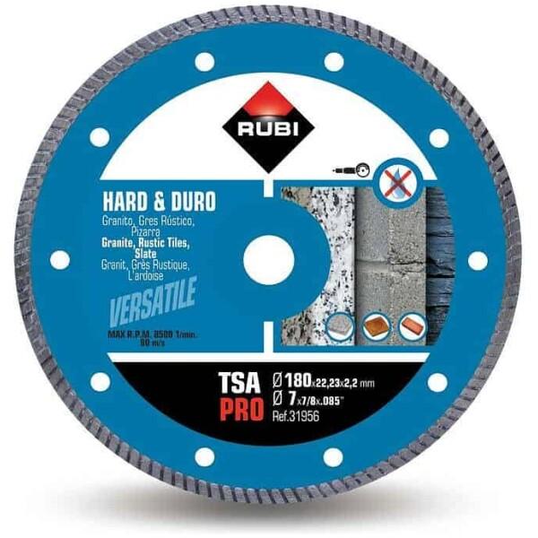 Disco de corte diamante material duro TURBO TSA-180 PRO