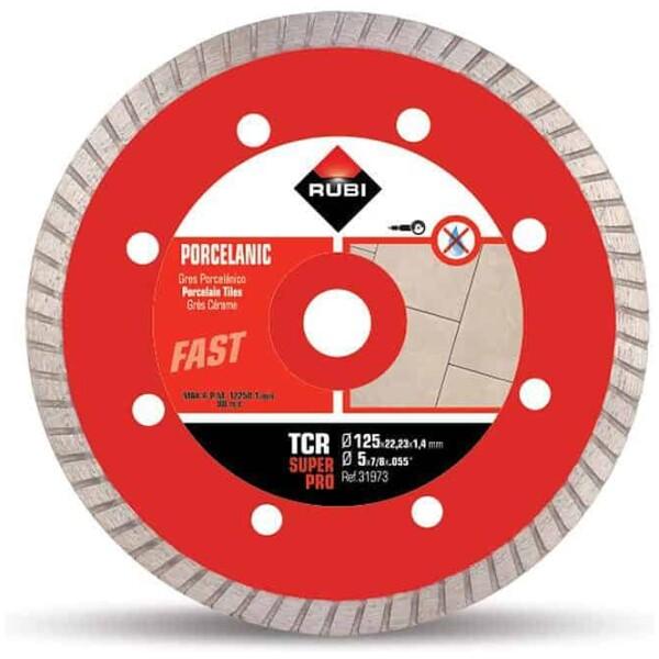 Disco diamante gres porcelánico TURBO TCR-115 a 230 SUPERPRO