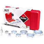 Kit 7 brocas y cabezal centrador Rubí