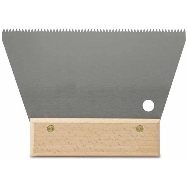 Espátula-peine ACERO 18 cm. (3×3) triangular Rubí