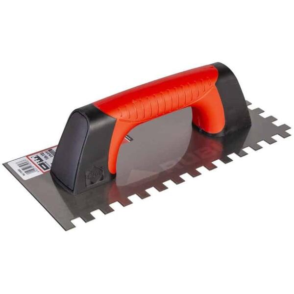 Peine ACERO 28 cm. (10×10) Rubí Mango Rubiflex Cerrado