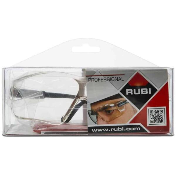 Ruby white lens glasses