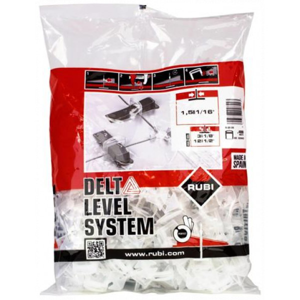 DELTA LEVEL SYSTEM flange 1,5 mm / 3-12 mm. (B-400 u.)