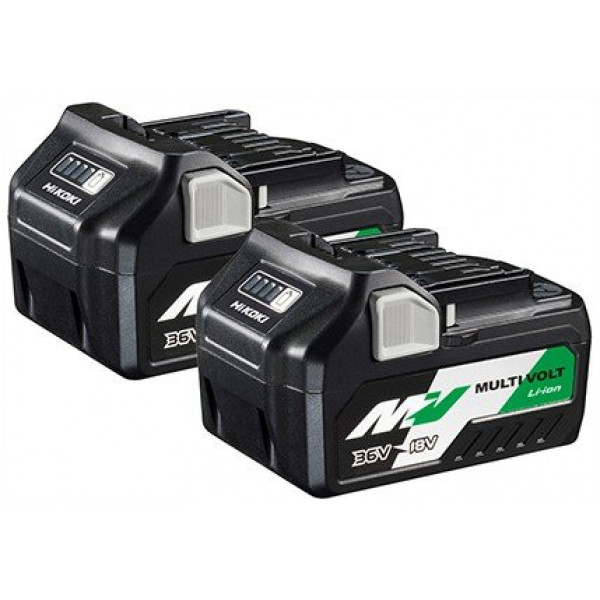 Pack de 2 Baterías BSL36A18 Multi Volt 36V – 2.5Ah / 18V – 5.0Ah  Hikoki