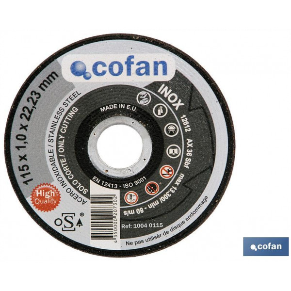 DISCO CORTE – 115X1,0X22,23 INOX PROFES.
