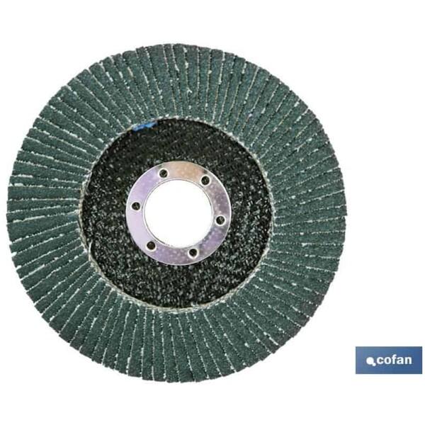 DISCO LAMINADO PLANO 115 MM. G-120 «INOX»